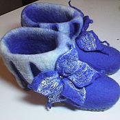 """Обувь ручной работы. Ярмарка Мастеров - ручная работа валенки домашние """"Синий иний"""". Handmade."""