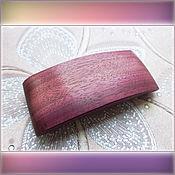 """Украшения ручной работы. Ярмарка Мастеров - ручная работа Заколка """"Purple heart"""" №5. Handmade."""