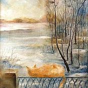 "Картины и панно handmade. Livemaster - original item Картина ""Ожидание на балконе"". Handmade."