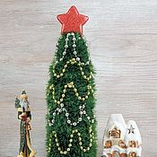 handmade. Livemaster - original item Christmas decoration case for a bottle knitted Christmas Tree. Handmade.