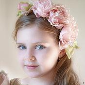 Украшения handmade. Livemaster - original item Silk flowers.Decoration in her hair a headband ARMEL.. Handmade.