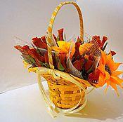 """Цветы и флористика ручной работы. Ярмарка Мастеров - ручная работа Букет """"Шоколадные розы"""". Handmade."""