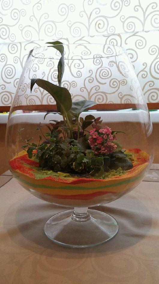 Интерьерные композиции ручной работы. Ярмарка Мастеров - ручная работа. Купить Цветочный аквариум. Handmade. Флорариум, цветочный аквариум