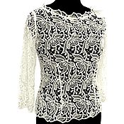 Одежда handmade. Livemaster - original item Lace blouse