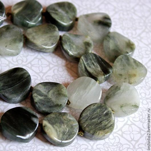 Для украшений ручной работы. Ярмарка Мастеров - ручная работа. Купить Агат с кварцем 16 мм монета - бусины камни для украшений. Handmade.