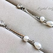 Свадебный салон handmade. Livemaster - original item Pearl earrings. Handmade.
