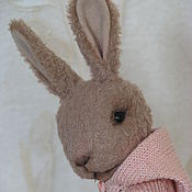 Куклы и игрушки ручной работы. Ярмарка Мастеров - ручная работа Тедди кролик.  Руся. 12,5 см.. Handmade.