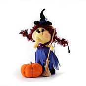 Куклы и игрушки handmade. Livemaster - original item Cute Hedgehog ,halloween, toy small witch. Handmade.