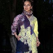 Одежда handmade. Livemaster - original item VAN GOGH Trendy coat on silk. Handmade.