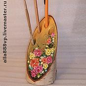 Канцелярские товары ручной работы. Ярмарка Мастеров - ручная работа Подставка для ручек, карандашей Цветы. Handmade.