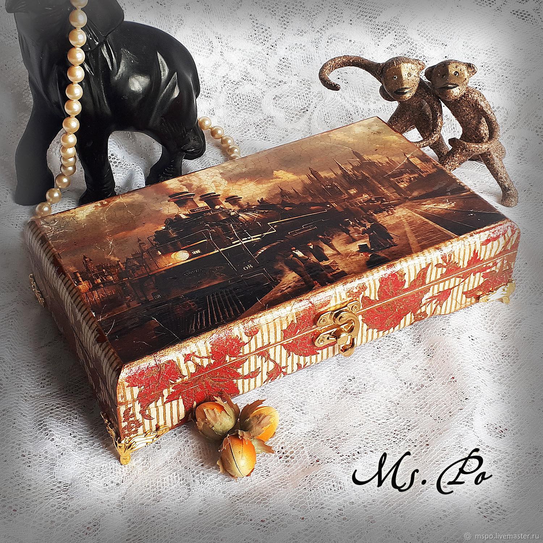 Trinket Boxes handmade. Livemaster - handmade. Buy Box ' On the platform'.Gift, gift for birthday, printout