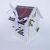 Открытки ручной работы. Ярмарка Мастеров - ручная работа Домик для денежного подарка на торжество. Handmade.