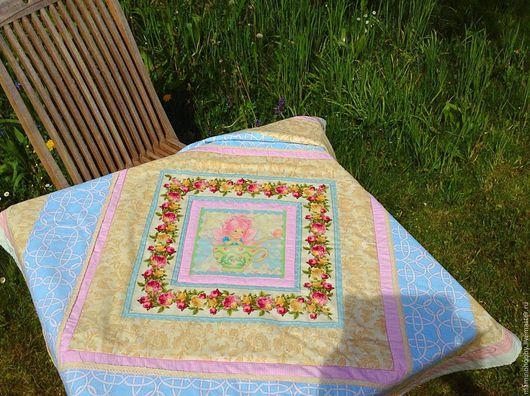 Детская ручной работы. Ярмарка Мастеров - ручная работа. Купить Одеяло лоскутное Шебби Фея в чашке, подарок ребенку. Handmade.