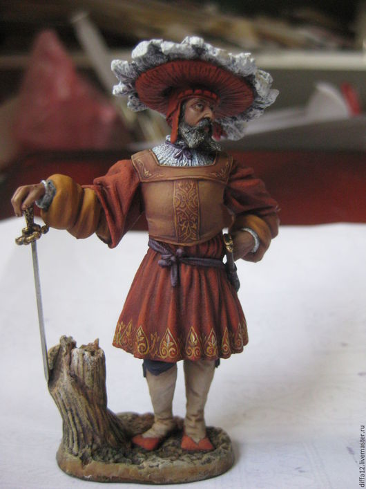 Миниатюрные модели ручной работы. Ярмарка Мастеров - ручная работа. Купить Оловянная миниатюра. Handmade. Комбинированный, оловянный солдатик
