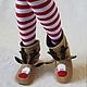 """Обувь ручной работы. Ярмарка Мастеров - ручная работа. Купить Домашние сапожки """"Олень Рудольф"""". Handmade. Бежевый, олененок"""