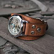 Украшения ручной работы. Ярмарка Мастеров - ручная работа Часы наручные на кожаном браслете Aviator Brown. Handmade.