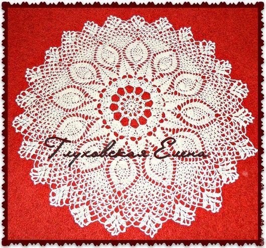 Текстиль, ковры ручной работы. Ярмарка Мастеров - ручная работа. Купить Ажурная мини-скатерть. Handmade. Белый, хлопок мерсеризованный