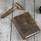 Канцелярские товары handmade. Livemaster - original item Notepad made of genuine leather with a removable block of paper. Handmade.