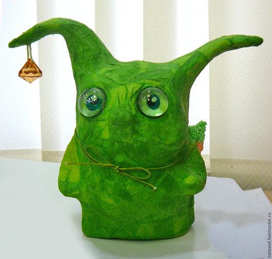 Игрушки животные, ручной работы. Ярмарка Мастеров - ручная работа. Купить Зелень. Handmade. Папье-маше, игрушка заяц, эксклюзив