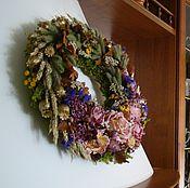 Интерьерные венки ручной работы. Ярмарка Мастеров - ручная работа Веночки из сухоцветов на кухонную вытяжку на магните интерьерный венок. Handmade.
