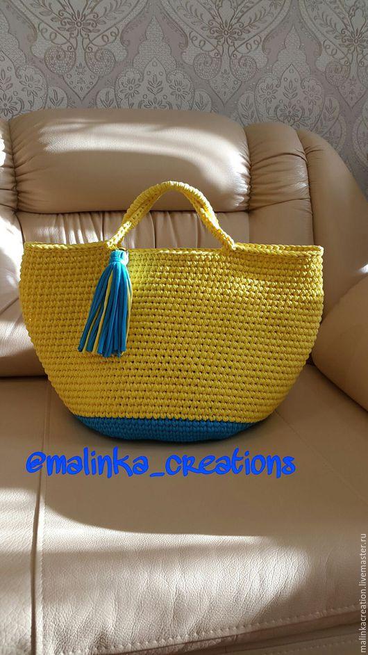 Вязаная стильная сумка Sunny Bag от Malinka_Creations