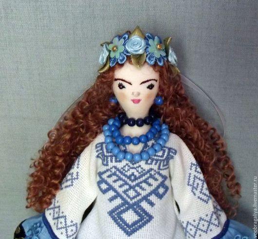 """Человечки ручной работы. Ярмарка Мастеров - ручная работа. Купить кукла Ладушка """"Любушка-голубушка"""". Handmade. Голубой, душевный подарок"""