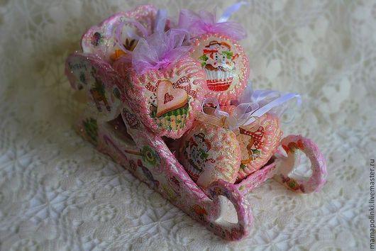 Новый год 2017 ручной работы. Ярмарка Мастеров - ручная работа. Купить Ёлочные игрушки. Handmade. Розовый, интерьерная подвеска
