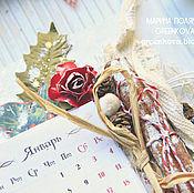 """Канцелярские товары ручной работы. Ярмарка Мастеров - ручная работа Календарь магнит """"Хороший год"""". Handmade."""