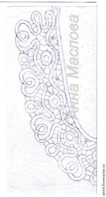 Аппликации, вставки, отделка ручной работы. Ярмарка Мастеров - ручная работа. Купить Сколок воротника и манжетов в технике румынского кружева. Handmade.