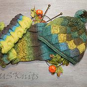 Аксессуары handmade. Livemaster - original item Knit set cowl neck cap (beret) mitts. Handmade.