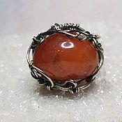 Украшения handmade. Livemaster - original item Ring with carnelian. Handmade.