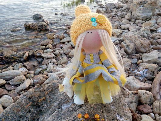 Коллекционные куклы ручной работы. Ярмарка Мастеров - ручная работа. Купить Златка Солнечная. Handmade. Желтый, солнышко, холофайбер