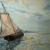 Картины и панно ручной работы. Ярмарка Мастеров - ручная работа В ожидании большой воды. Handmade.