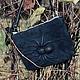 """Женские сумки ручной работы. Ярмарка Мастеров - ручная работа. Купить Чёрная сумка из натуральной замши и кожи """"Паук"""" с эффектом 3D. Handmade."""