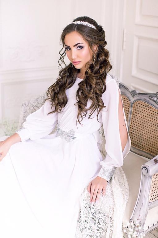 Свадебные украшения ручной работы. Ярмарка Мастеров - ручная работа. Купить Свадебная тиара ободок из белого агата / свадебное украшение для волос. Handmade.