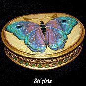 Для дома и интерьера handmade. Livemaster - original item Box Butterfly art Nouveau -3. Handmade.