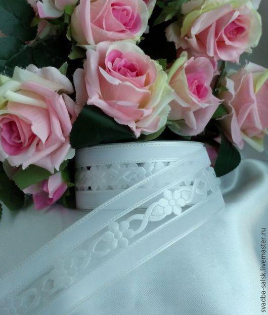 Шитье ручной работы. Ярмарка Мастеров - ручная работа. Купить Кружево свадебное цветы (белый)_40 мм. Handmade. Кружево