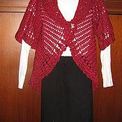 Одежда ручной работы. Ярмарка Мастеров - ручная работа кардиган цвета бордо. Handmade.