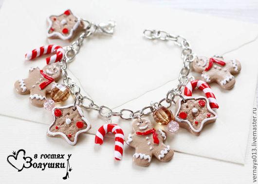 Bracelets handmade. Livemaster - handmade. Buy Bracelet 'gingerbread'.Bracelet, ginger cookies, bracelet on a chain, accessories