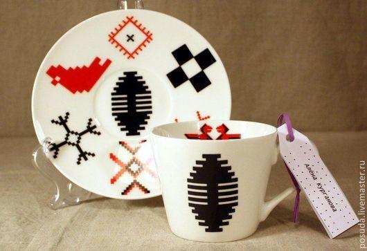 """Сервизы, чайные пары ручной работы. Ярмарка Мастеров - ручная работа. Купить Чайная пара """"Сила Берегини"""". Handmade."""