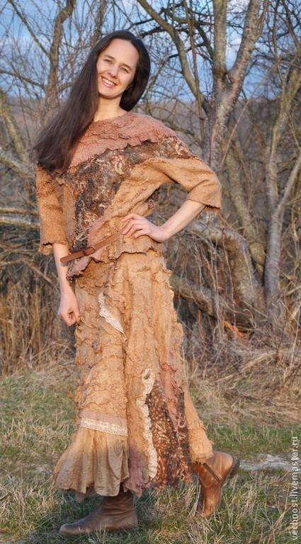 """Блузки ручной работы. Ярмарка Мастеров - ручная работа. Купить Валяная блуза """"Любимая"""". Handmade. Бежевый, нуновойлок, елена середа"""