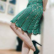 Одежда ручной работы. Ярмарка Мастеров - ручная работа Платье Изумрудное кружевное. Handmade.
