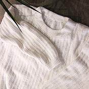 Пуловеры ручной работы. Ярмарка Мастеров - ручная работа Белый вязаный пуловер. Handmade.