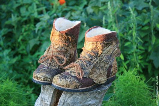Обувь ручной работы. Ярмарка Мастеров - ручная работа. Купить Джамбо. Handmade. Коричневый, сапоги, кожа