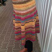 Одежда ручной работы. Ярмарка Мастеров - ручная работа вязаная юбочка из пряжи норо Мармеладка. Handmade.