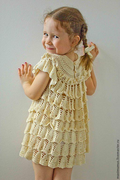 Платье-туника Озорной колокольчик. Нарядные и крестильные платья для девочек. Мастер Михович Юлия.