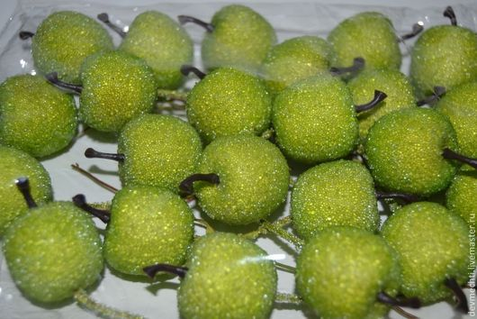 -Яблочко зеленое в сахаре на вставке (2 см) -1шт. -20 руб. -Яблочко зеленое в сахаре на вставке (3 см) -1шт. -25 руб.