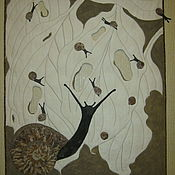 """Картины и панно ручной работы. Ярмарка Мастеров - ручная работа """"Завтрак на траве"""". Handmade."""