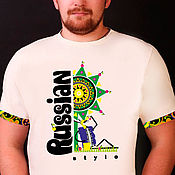 T-shirts handmade. Livemaster - original item T-shirt RS Rabbit holiday men white. Handmade.