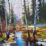 Картины и панно handmade. Livemaster - original item Oil painting landscape _ Spring_ handmade. Handmade.